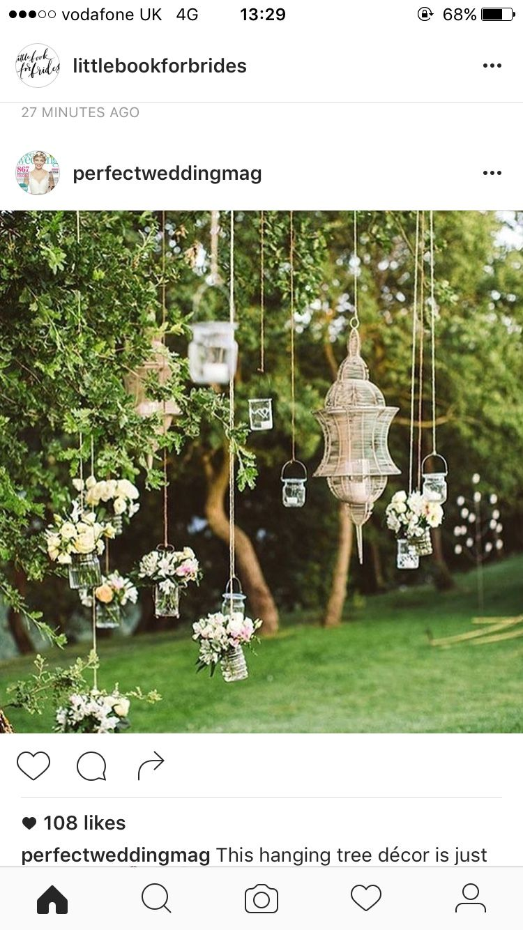 Wedding decorations hanging from trees  Pin by Laura Vaughan on outside ideas  Pinterest