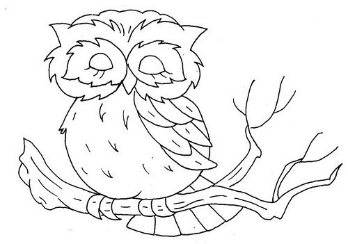 retro owl coloring pages | owl embroidery pattern | Owl embroidery, Embroidery ...