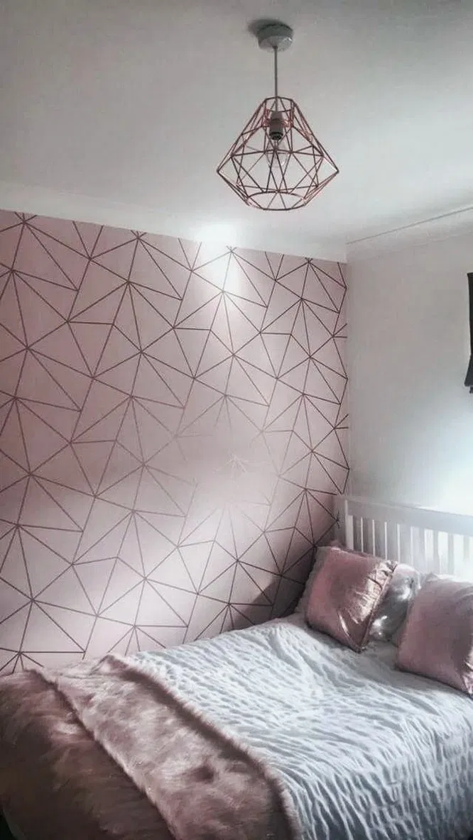 41 Small Bedroom Ideas That Are Look Stylishly Space Saving Rose Gold Room Decor Rose Gold Bedroom Gold Room Decor