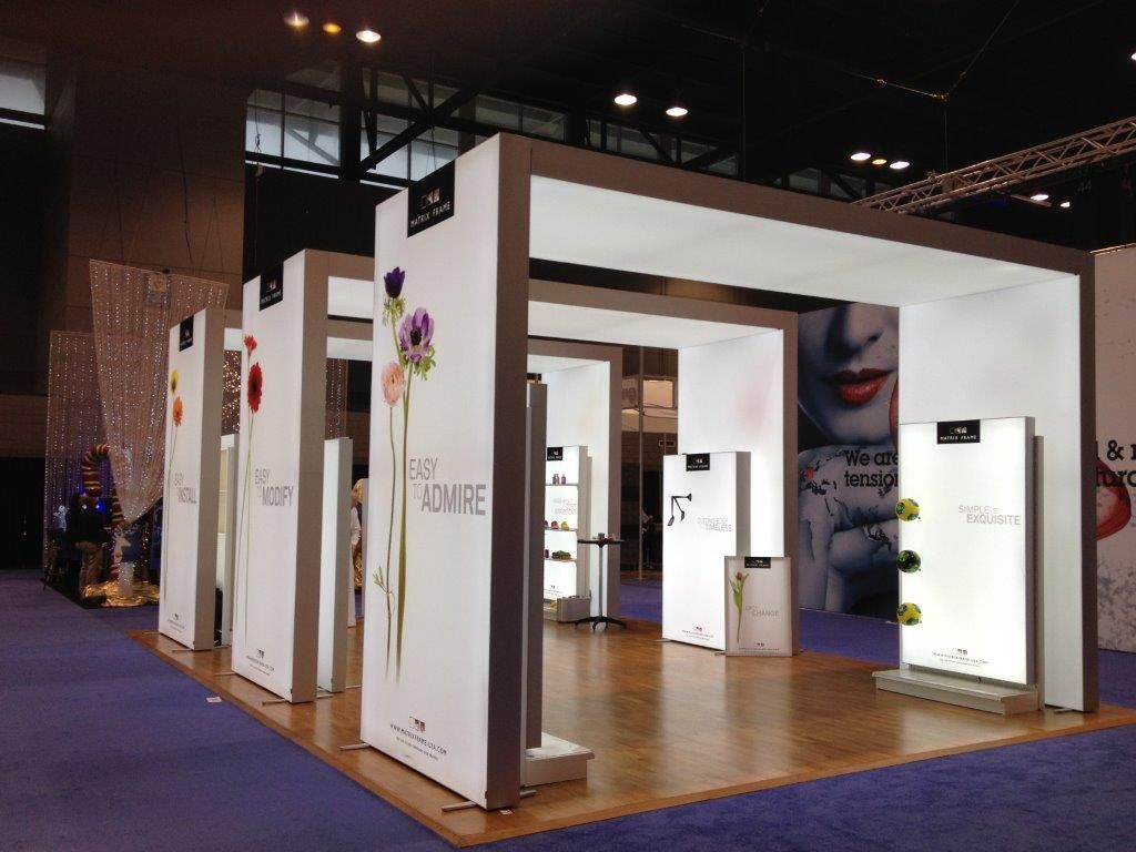 Exhibition Booth Frame : Let matrix frame design your next trade show booth
