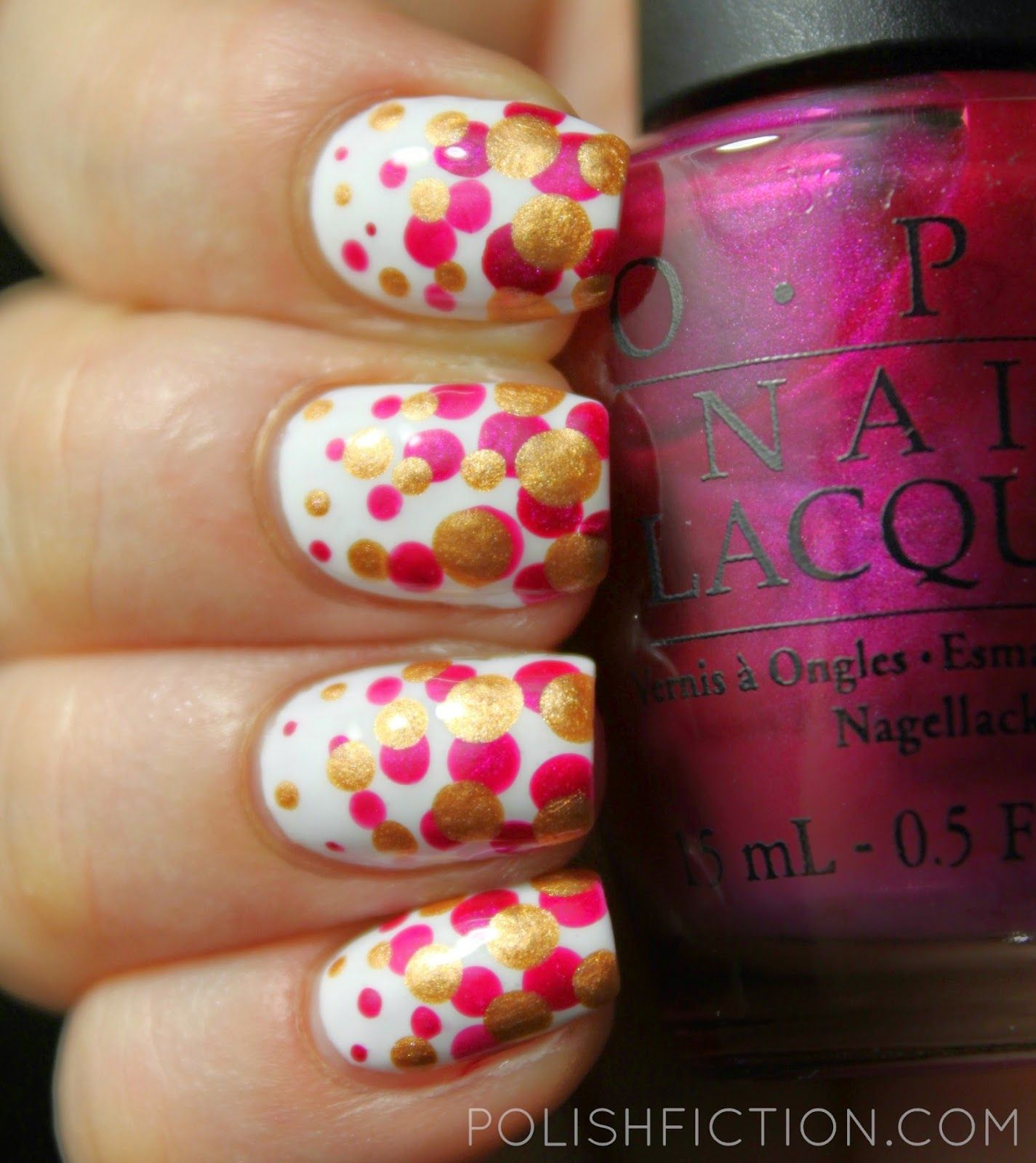 Gradient dot nails with OPI Kinky in Helsinki and OPI with a Nice ...