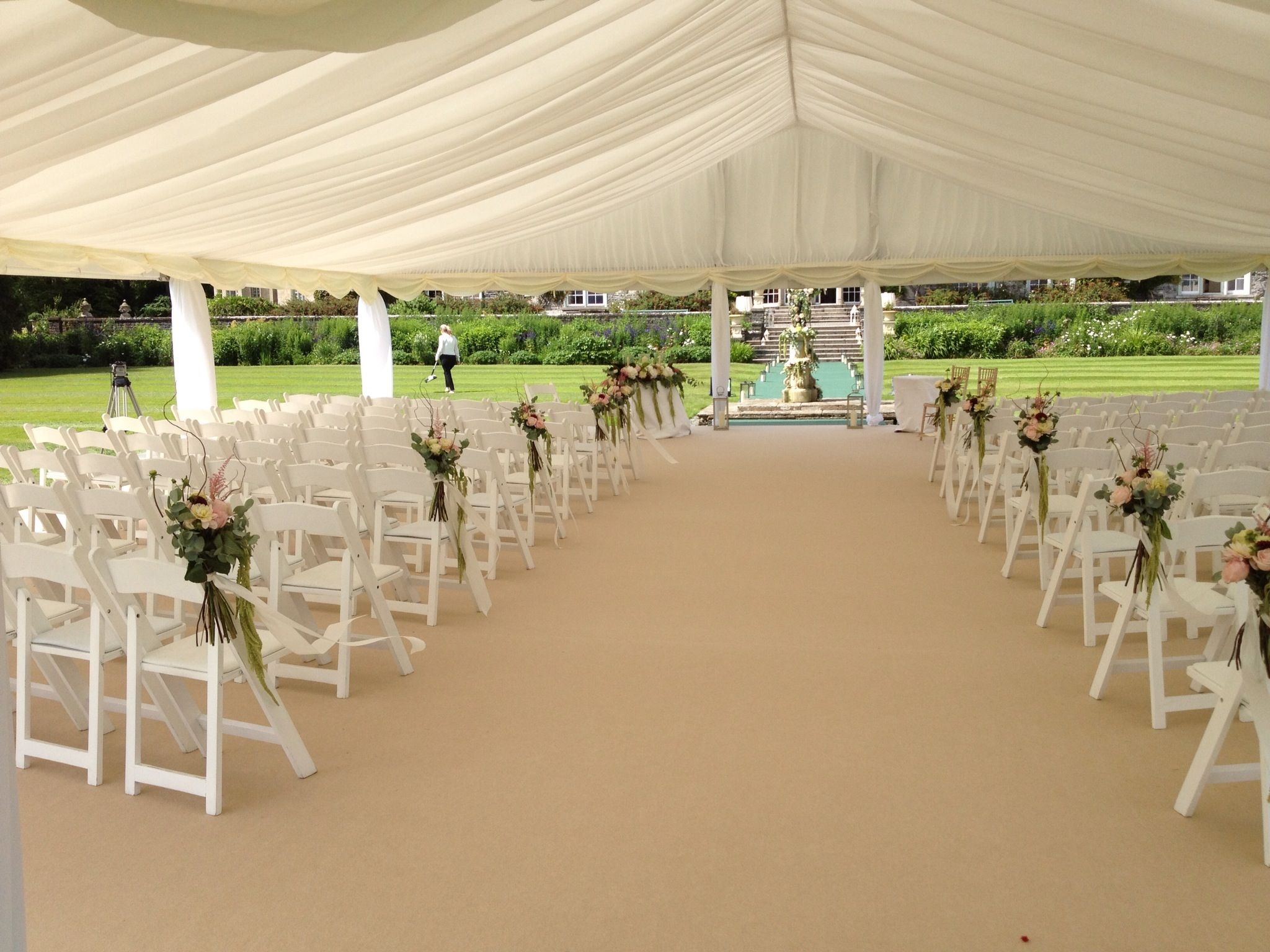 Open Sided Marquee For Wedding Ceremony