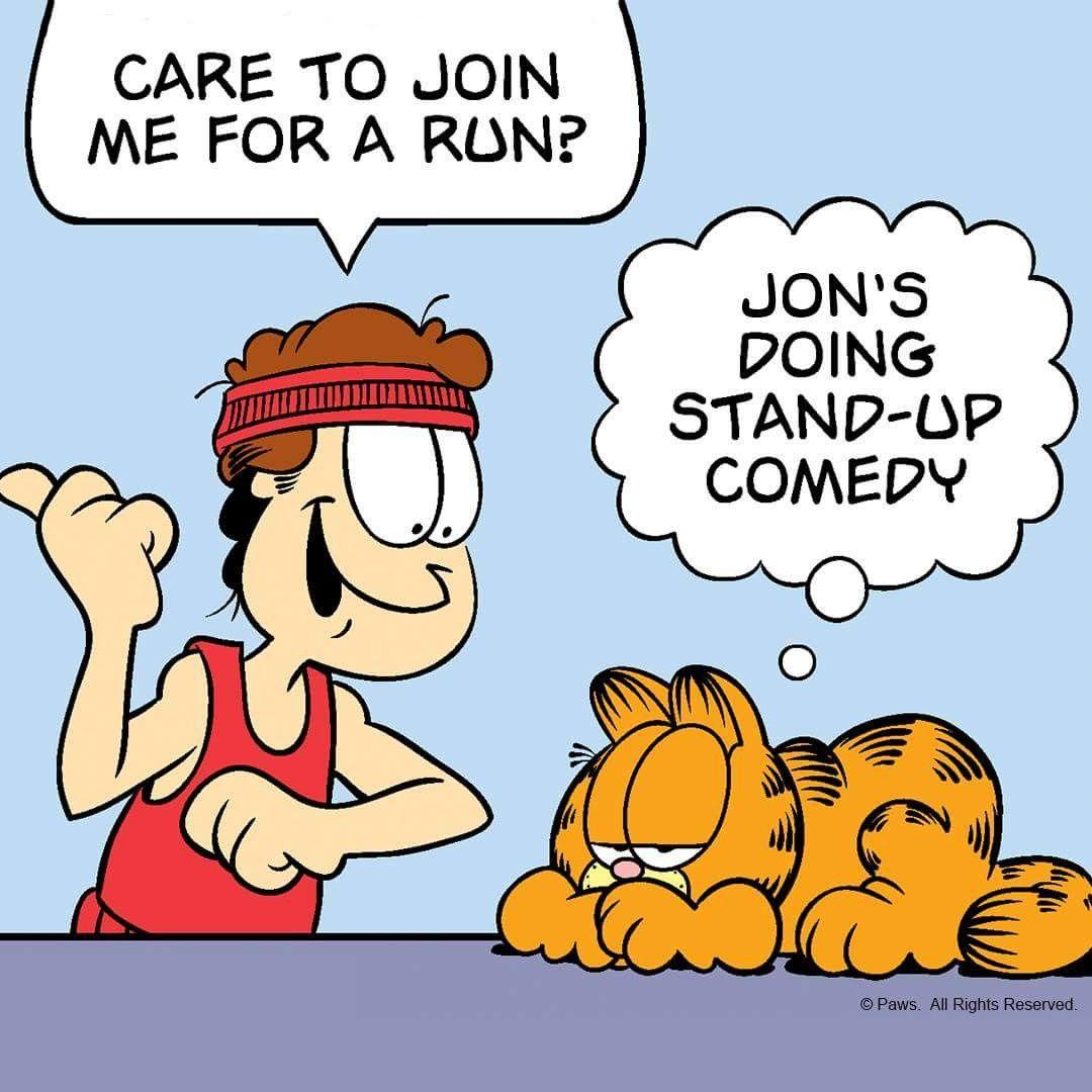 Pin By Anna Mcfadden On Garfeild Garfield Cartoon Stand Up Comics Garfield And Odie