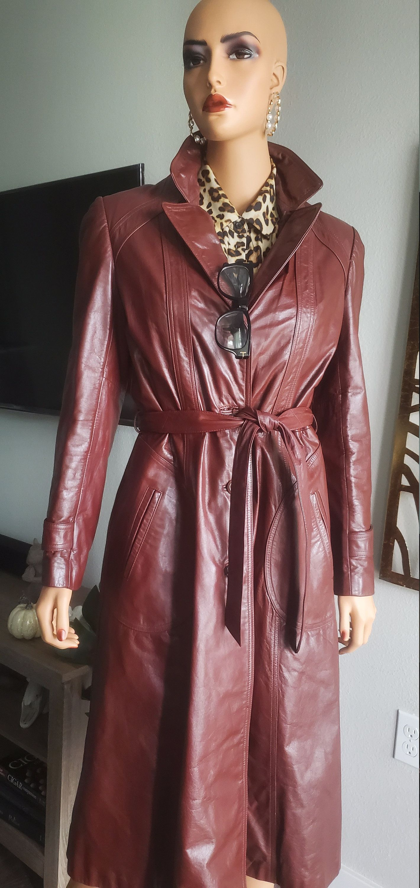 Wilson Red Leather Womens Coat Leather Red Coat 90s Leather Red Coat Wilson Leather  Coats Jackets Clothing