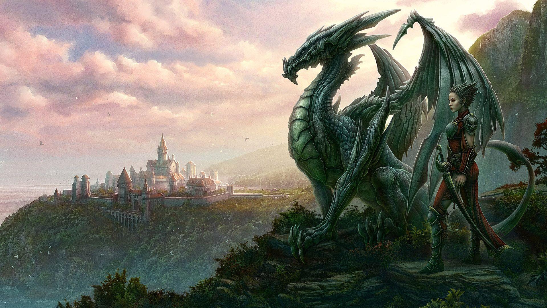 Dragón y jinete élfico, de Kerem Beyit | Dragones | Pinterest ...