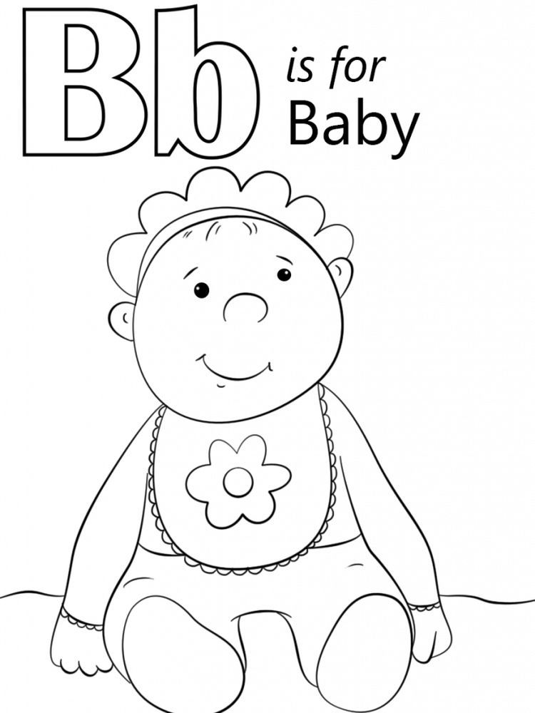 Cute Baby Coloring Pages Print Pdf Abc coloring pages
