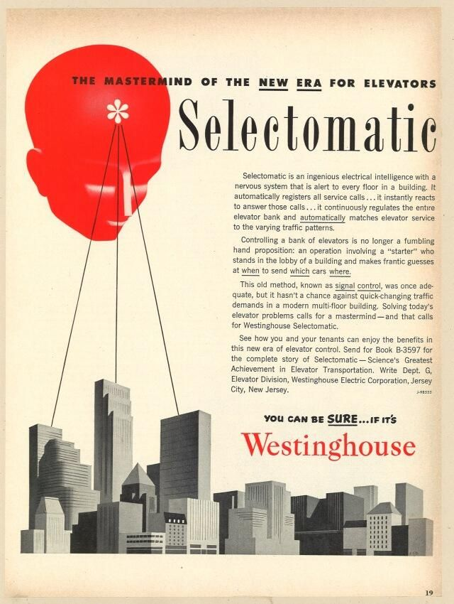 Selectomatic - Science's Greatest Achievement in Elevator Transportation.