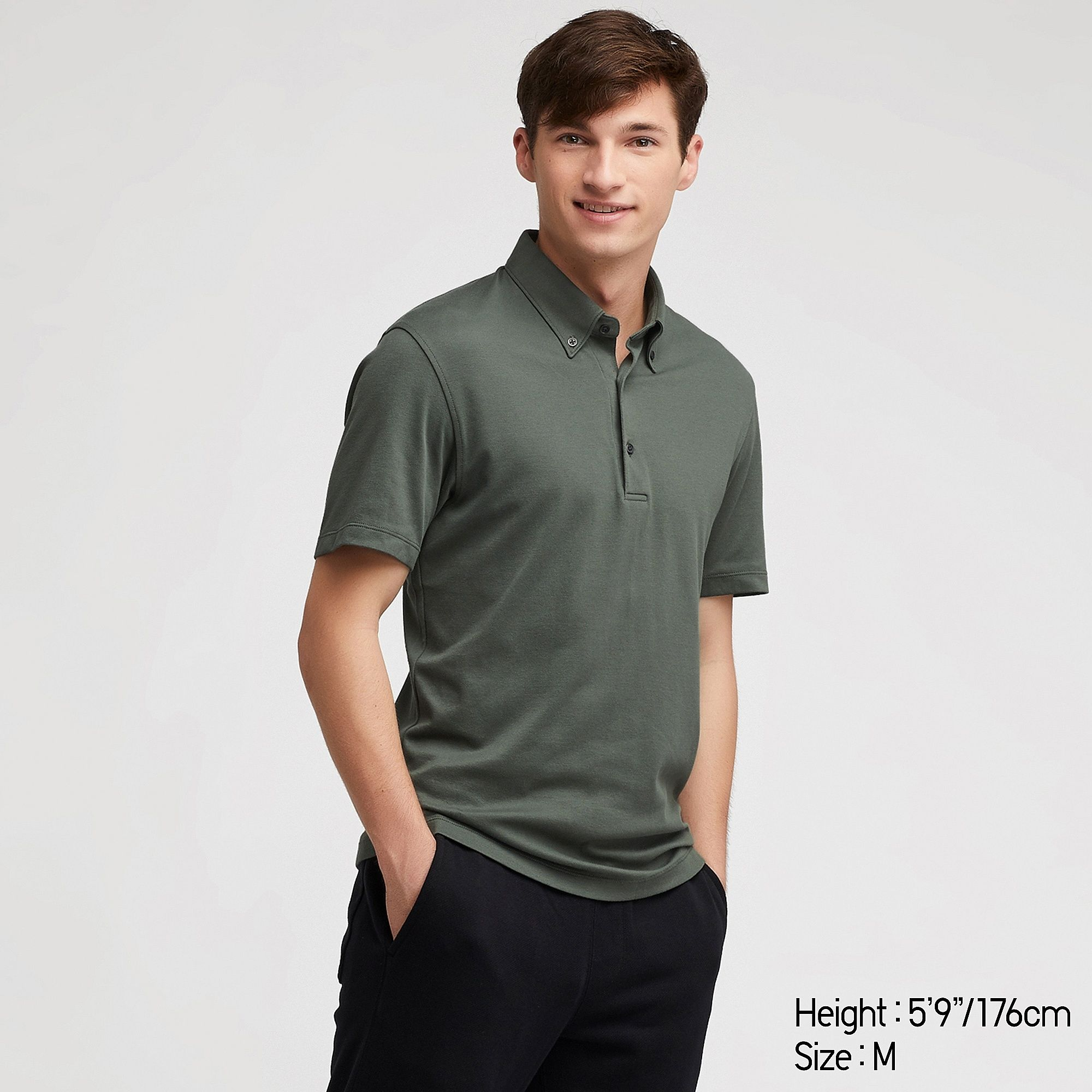 1f55a414781 Men airism short sleeved polo shirt in 2019 | Clothing | Shirts ...