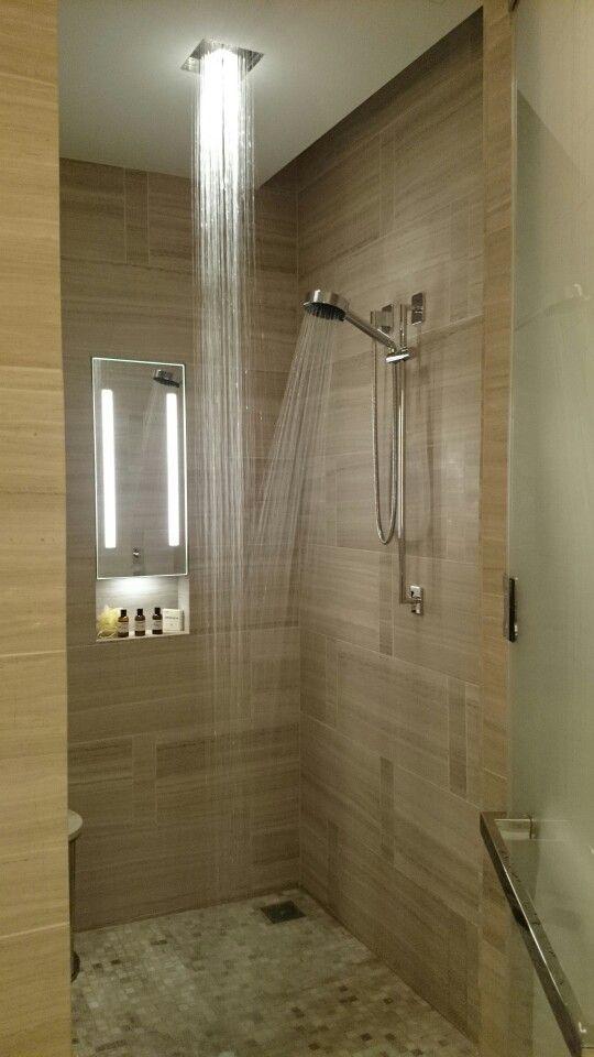 I Swear I Could Ve Lived In This Shower For The Entire Stay Parkhyattnewyork Rainfallshower Bathroom Design Bathroom Renovation Rainfall Shower
