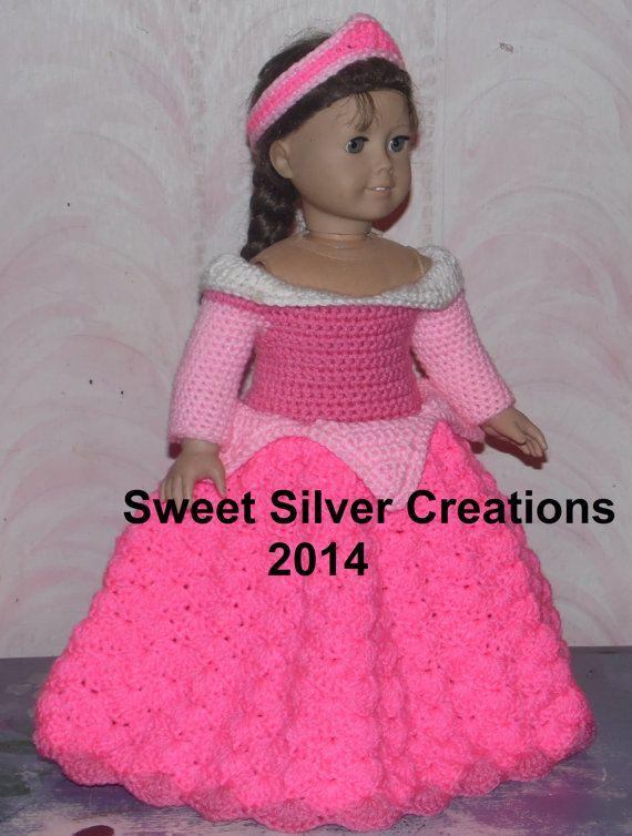 18 inch American Girl Crochet Pattern - Sleeping Beauty | Puppen ...
