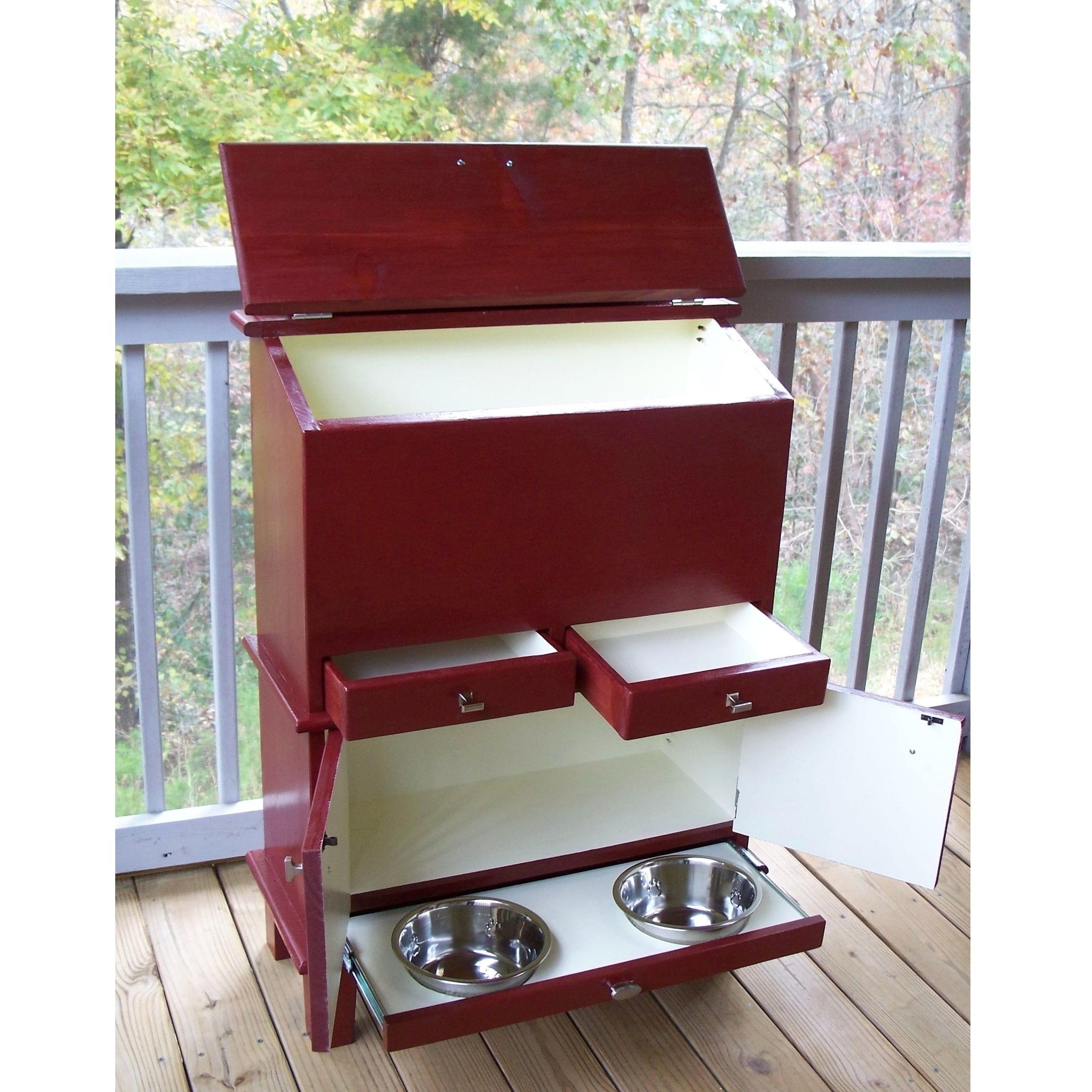 Pet pantry with food bowl drawer & cabinet. pet pantry, pet food ...