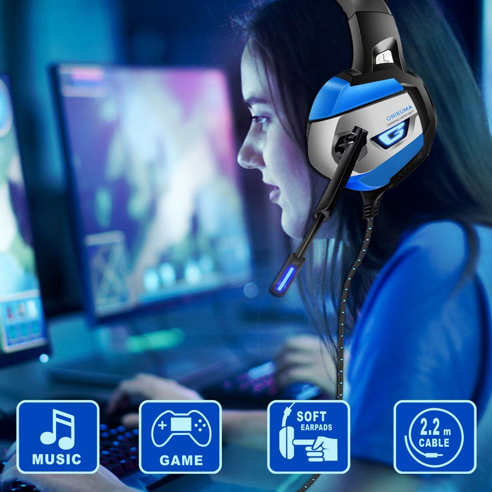 ONIKUMA Gaming Headset - Gaming Headphone for PS4, Xbox One, PC