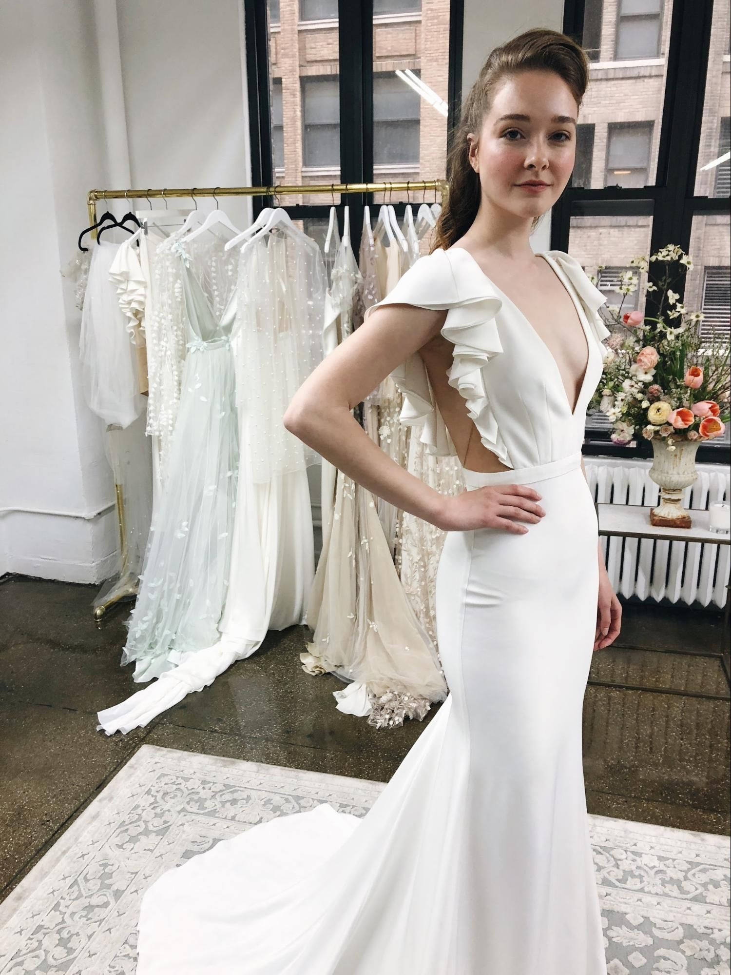 Alexandra Grecco Wild Honey Collection The Lucy Gown Is Sleek