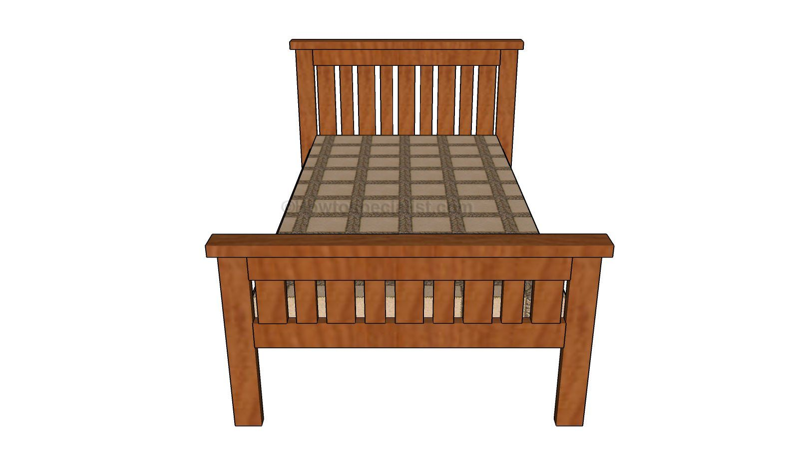 2x4 Farmhouse Bed Plans Howtospecialist How To Build Step By Step Diy Plans Farmhouse Bedding Bed Frame Plans Furniture