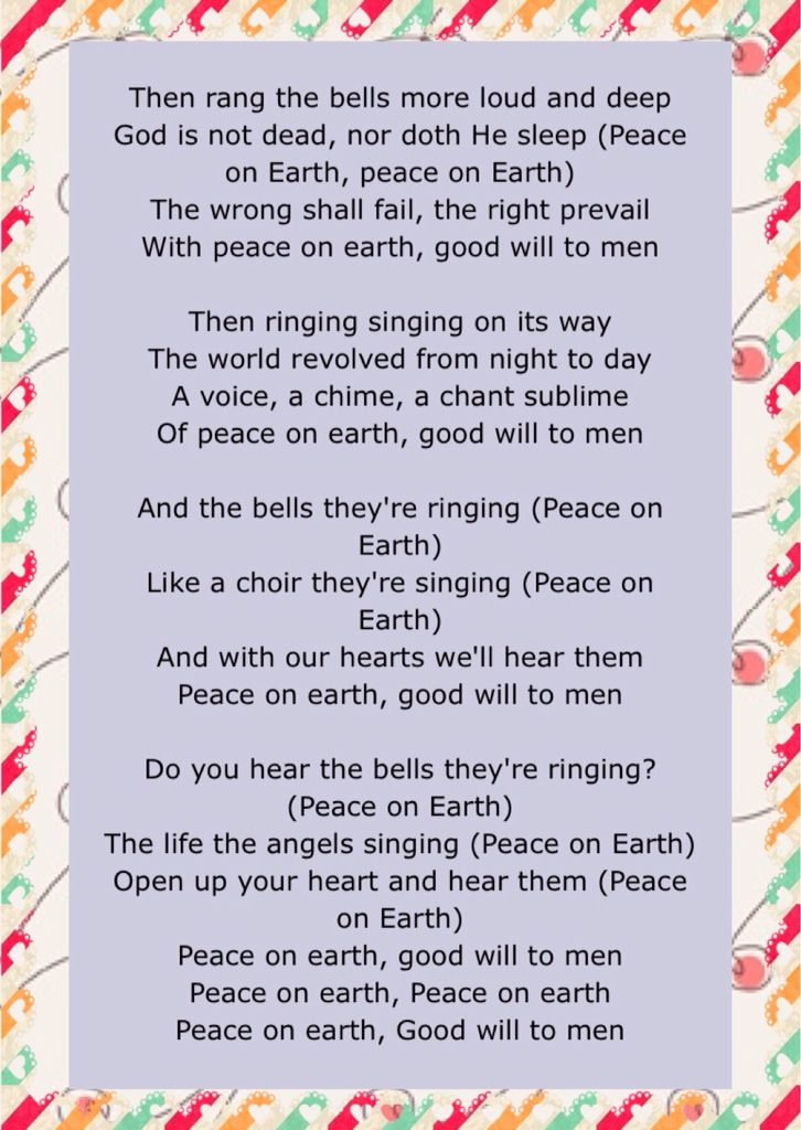 december 7 2015 of jesus birthday celebration some of the lyrics of i heard the bells on christmas day by casting crown - Casting Crowns I Heard The Bells On Christmas Day