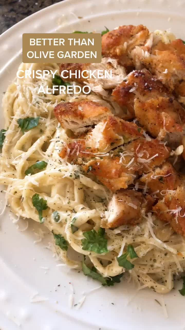 For all the pasta lovers, the crispy chicken is a