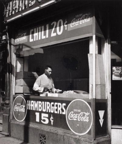 Hamburger Stand, 1949, Chicago. Ferenc Berko