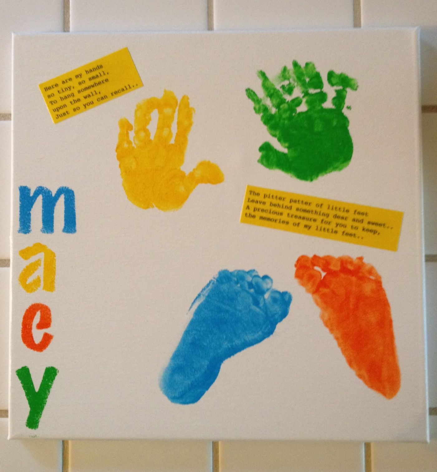 Hand And Footprint Art - #Preschool #Daycare #Crafts #Kids