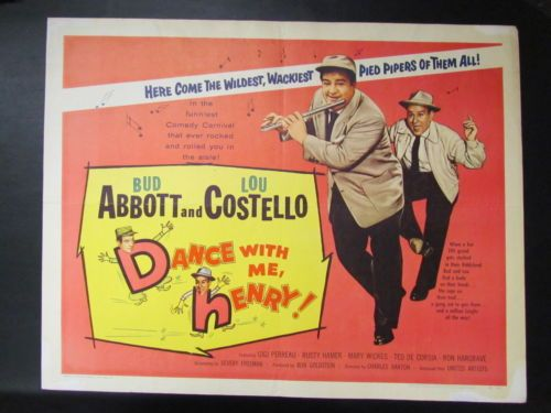 Details About 1956 Dance With Me Henry Us 1 2 Sheet Movie Poster