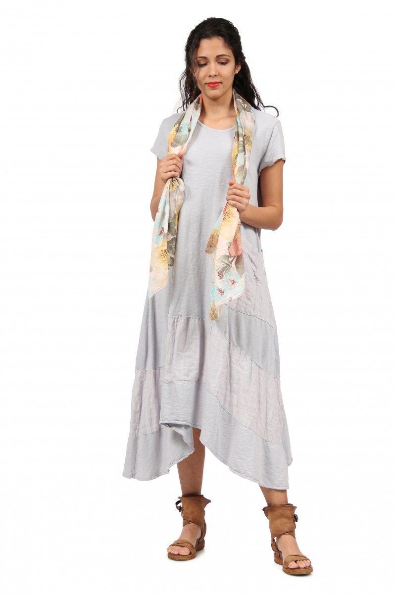 3fb72a3e9b Pamut ruha egy zsebbel, szürke | Flancos.hu | Női divat | Dresses ...