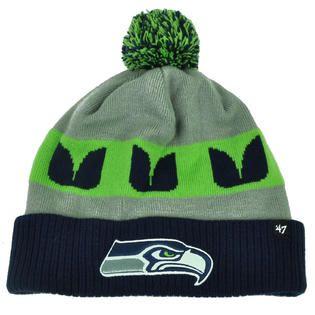 fde8c0211  47 Brand NFL  47 Brand Seattle Seahawks Cuffed Knit Beanie Pom Pom Winter  Hat Toque Pom
