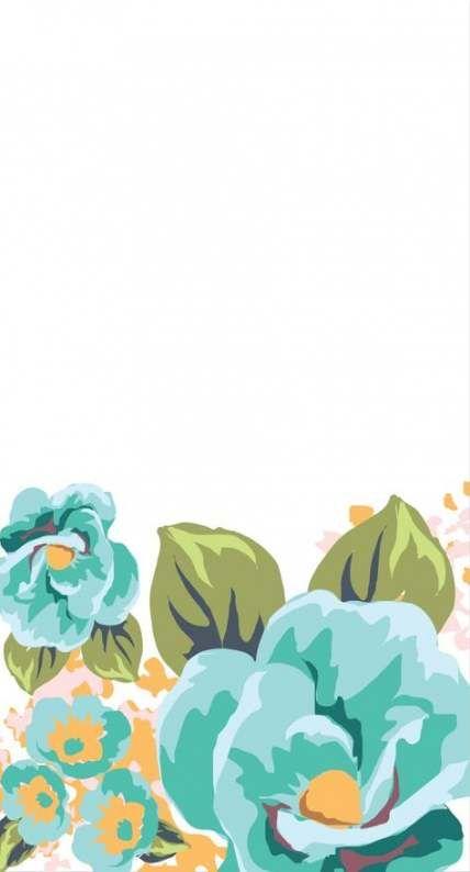 New flowers wreath wallpaper Ideas