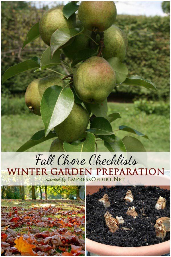 Winter Garden Prep Fall Chore Checklists Empress of