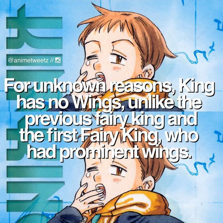 Anime: The Seven Deadly Sins Character: King