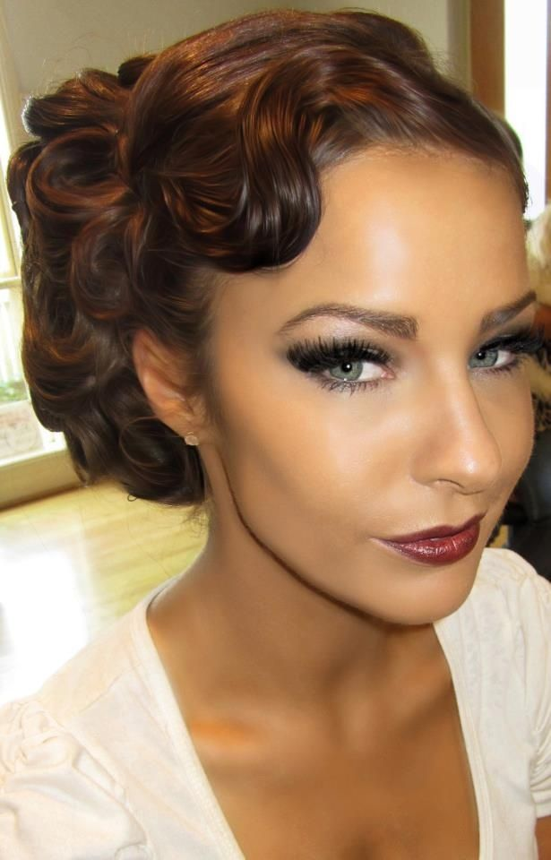 Retro Glam Hairstyles Old Hollywood Glam Vintage Wedding
