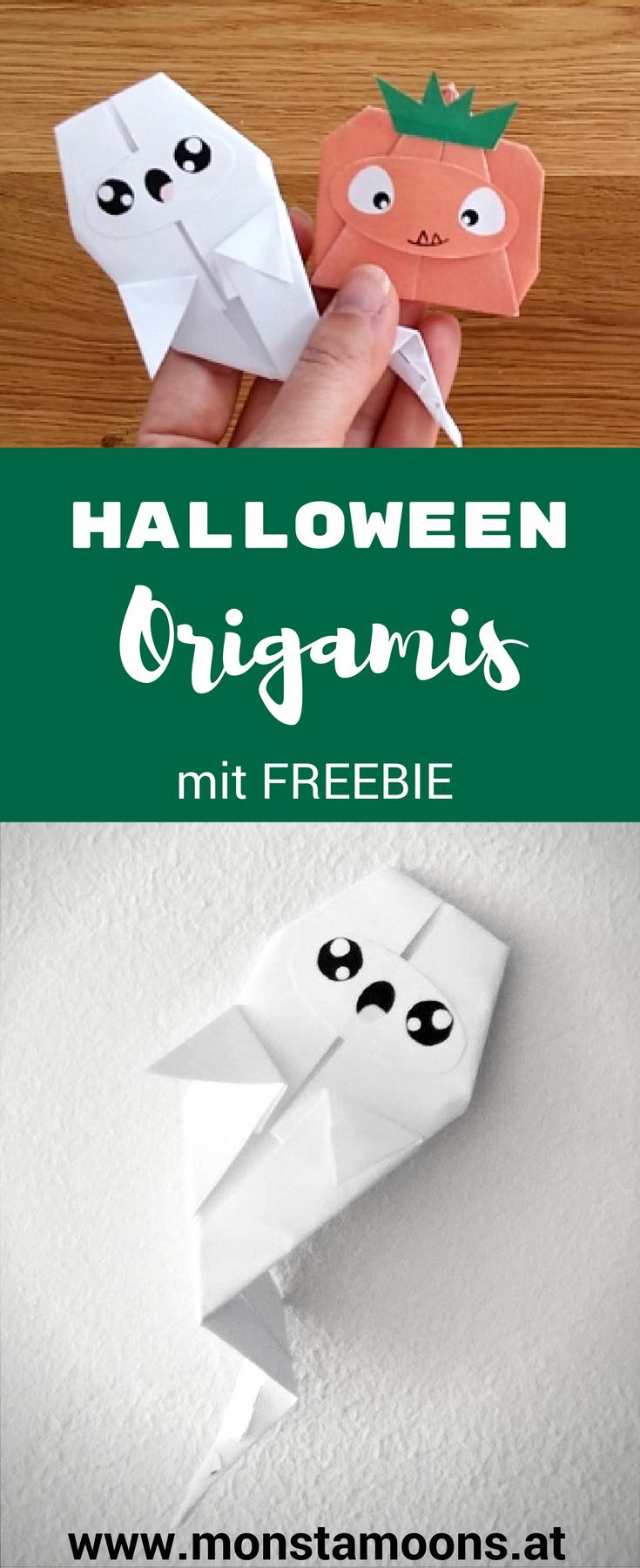 So bastelst du einfache Origamis für Halloween - mit Freebie ...