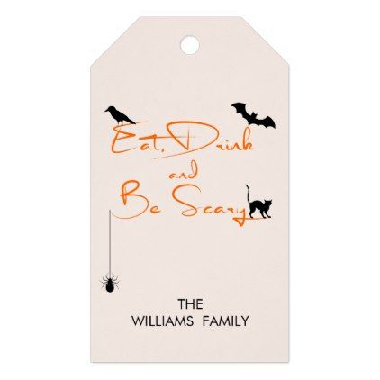 Eat Drink and Be Scary Halloween Gift Tags - minimal gifts style