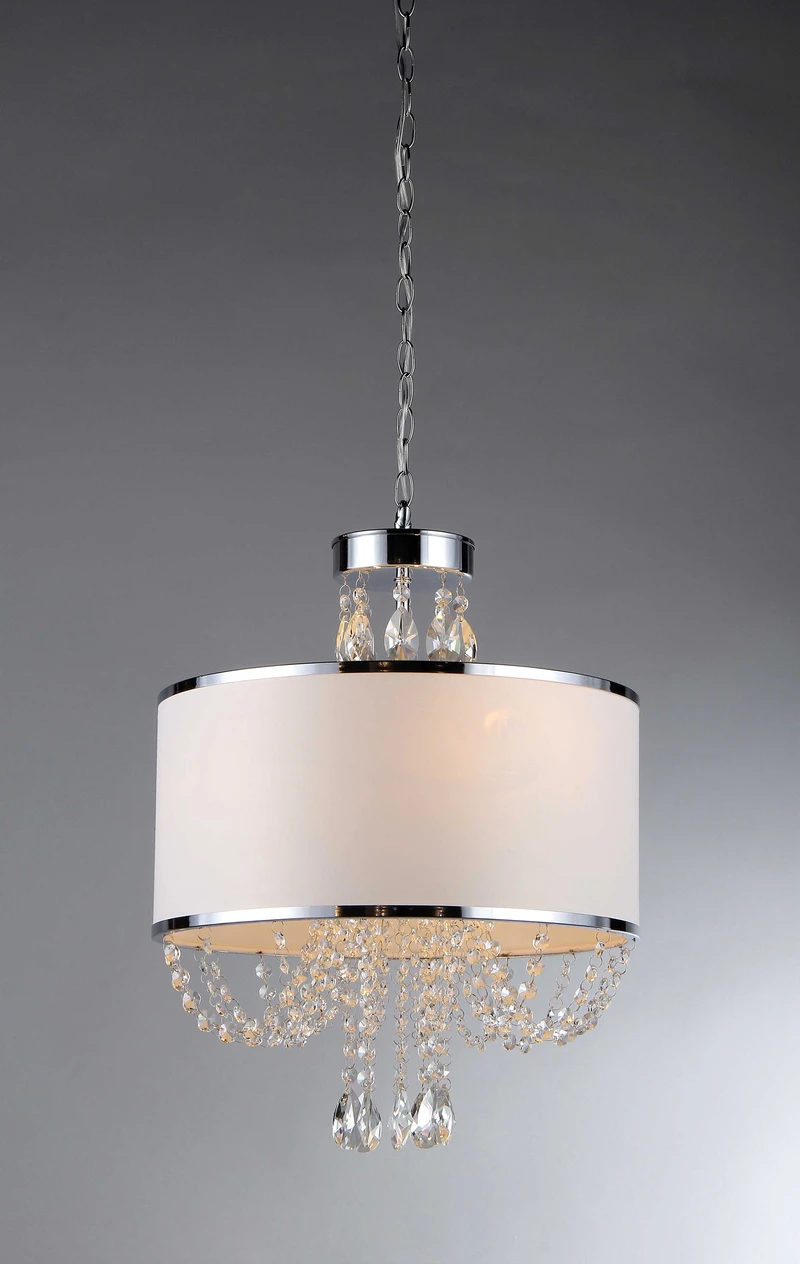Photo of 'Hera' Shaded Crystal-detailed 4-light Chandelier