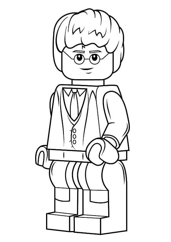 coloring page lego harry potter harrypotter  harry