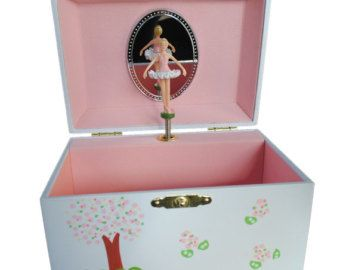 HandPainted Personalized Childrens Ballerina Jewelry Box with