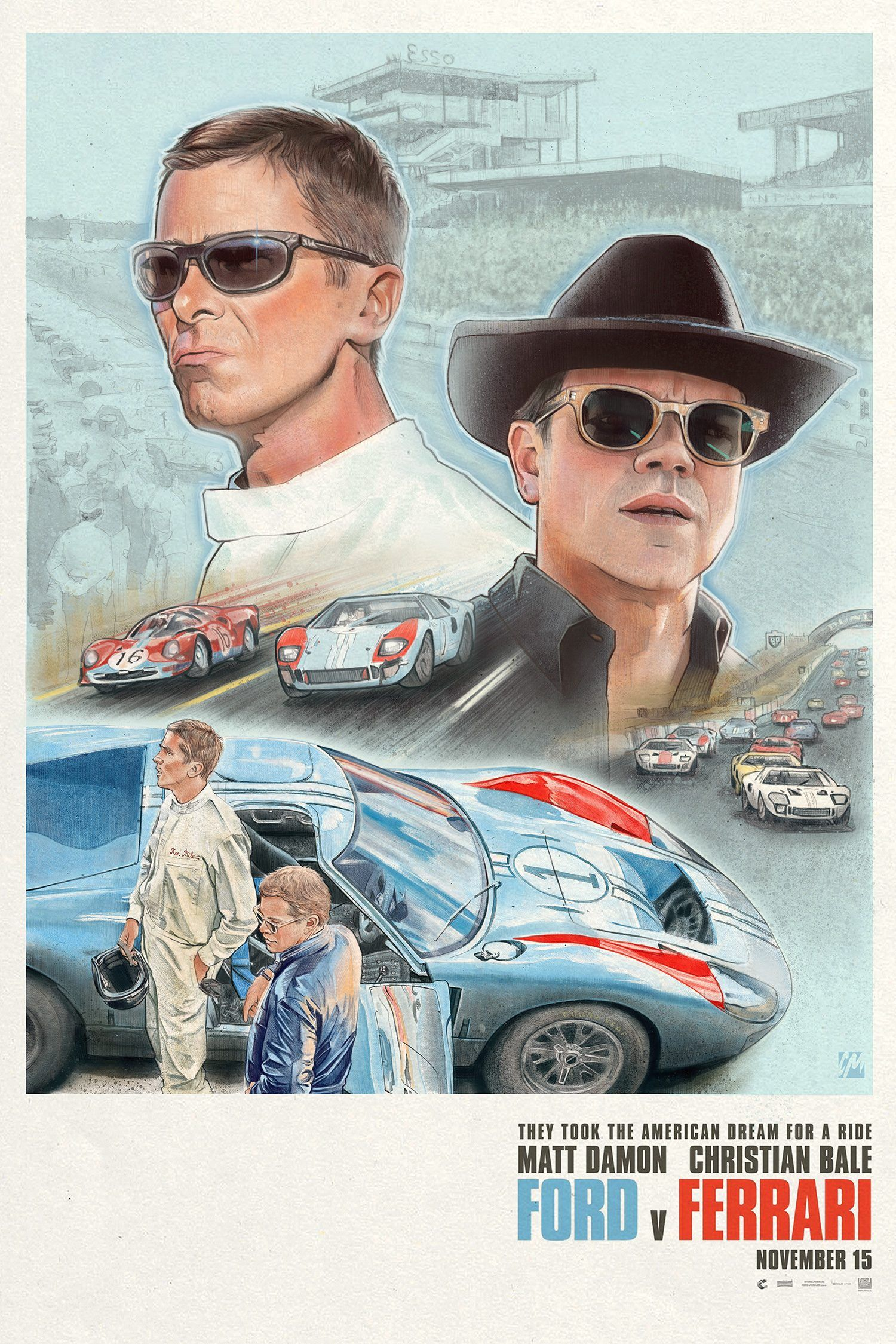 Ford V Ferrari Art By Colin Murdoch