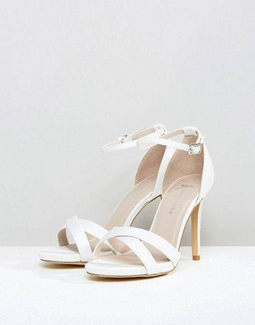 New Look Wide Fit Satin Ankle Strap