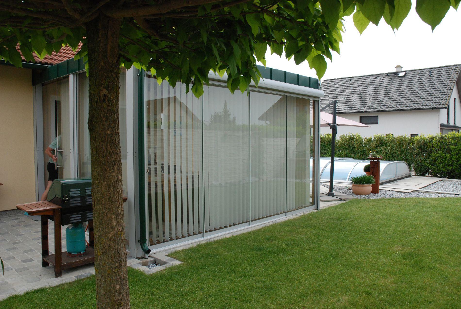 Glaswand Für Terrasse Wind Sichtschutz Verglasungen