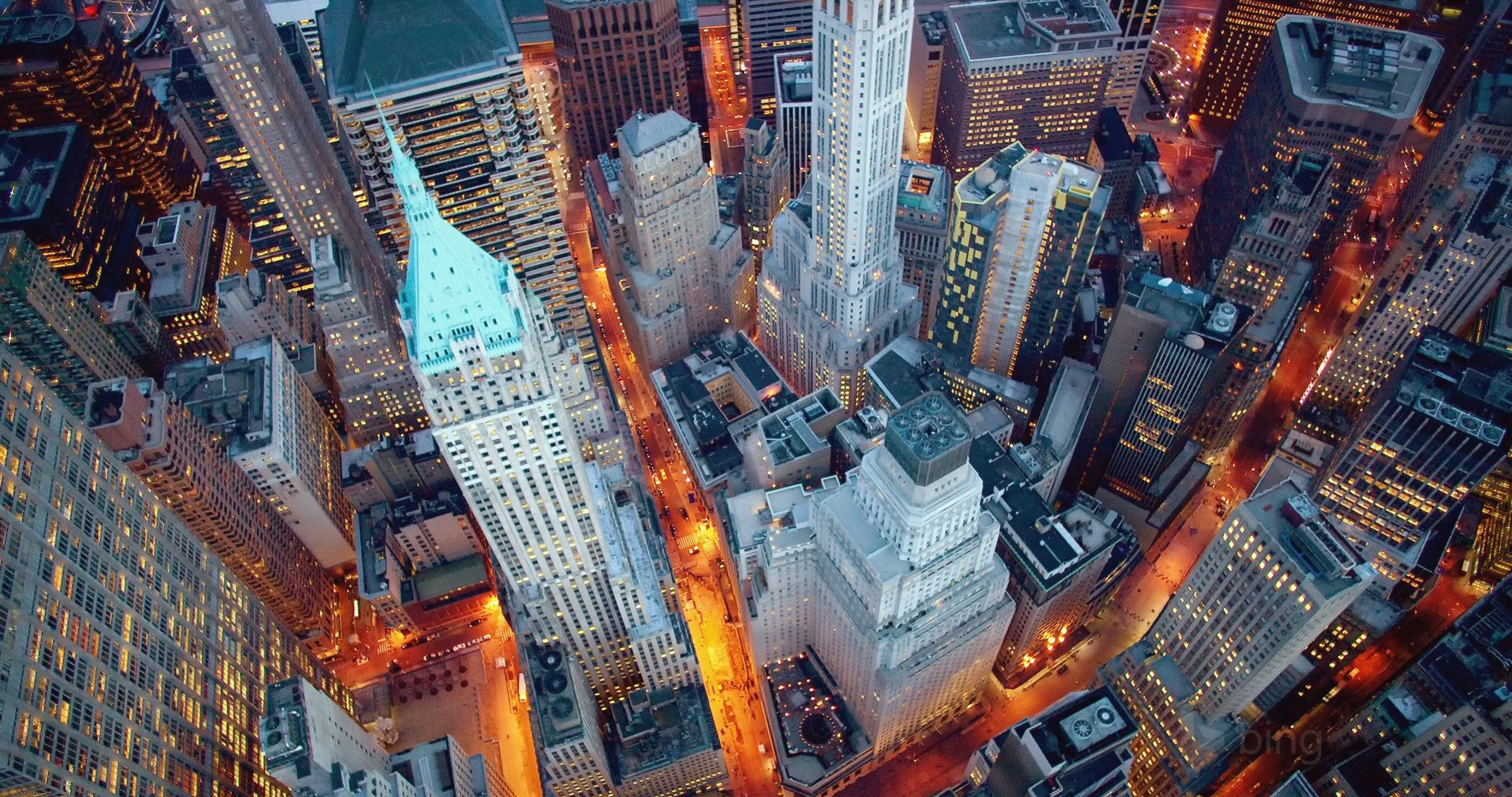 wall street night lights 4k ultra hd wallpaper (With images) | New ...