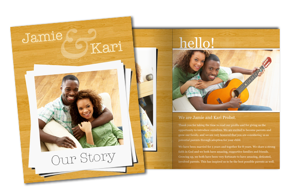8 5x11 Family Story And Adoption Profile Booklet Template Www Focusinpix