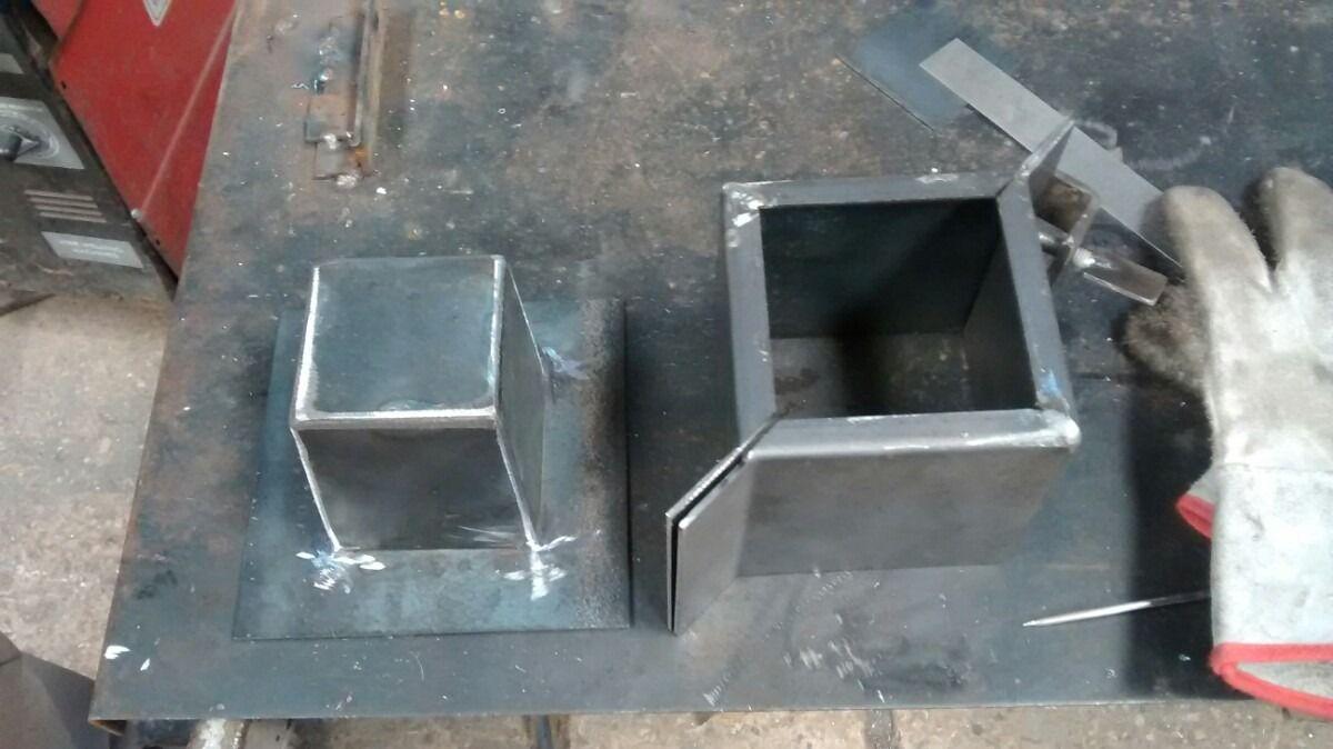 Molde de maceta cubo 10x10 cemento pinterest cubos - Moldes de cemento ...