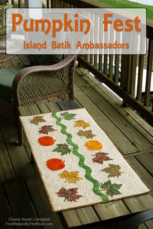 Pumpkin Fest with the Island Batik Ambassadors - a fast and easy table runner to make!