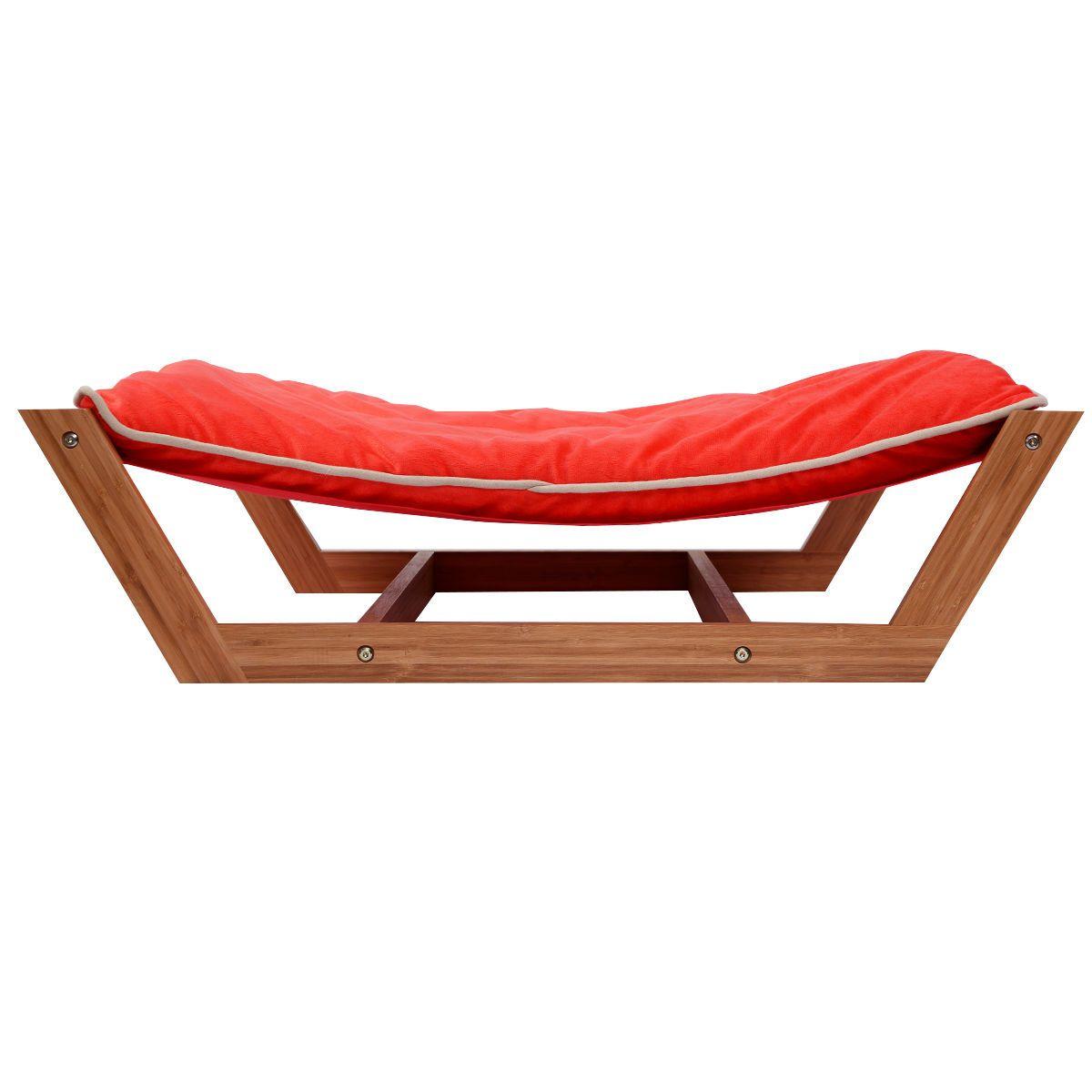 Rectangle Pet Hammock Bed Bamboo Dog Sleeping Pad Cushion