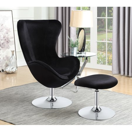 Amazing Coaster Accent Chair In Black Velvet Size 44 75 Gray In Ncnpc Chair Design For Home Ncnpcorg