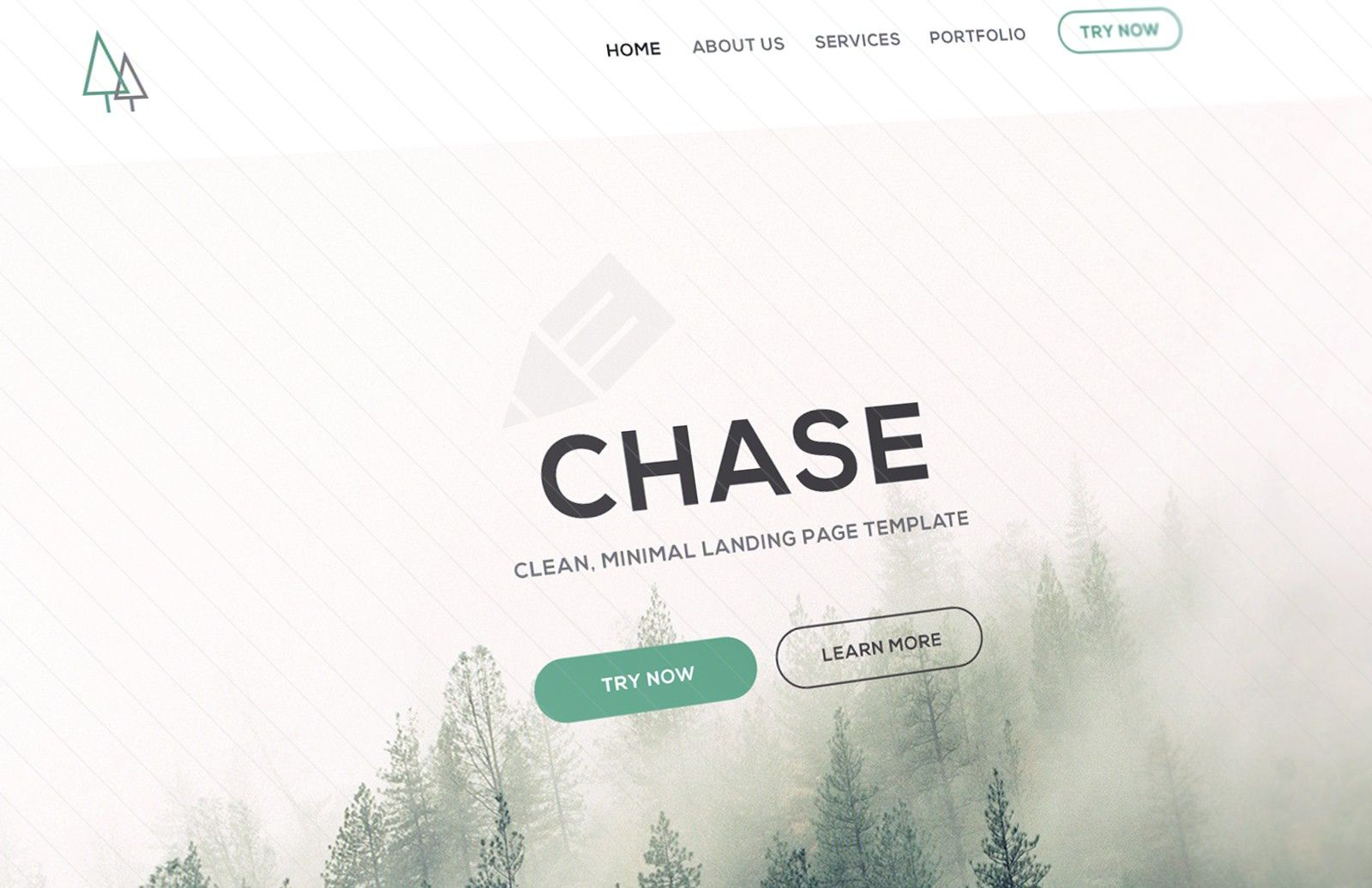 Chase Landing Page Template (PSD/HTML)