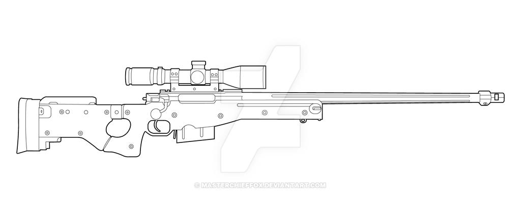 AI AWM Lineart by MasterChiefFox | marcelo | Pinterest | Armas ...