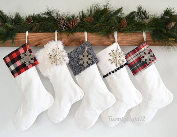 Personalized Christmas Stockings Set Of 5 Stockings Velvet