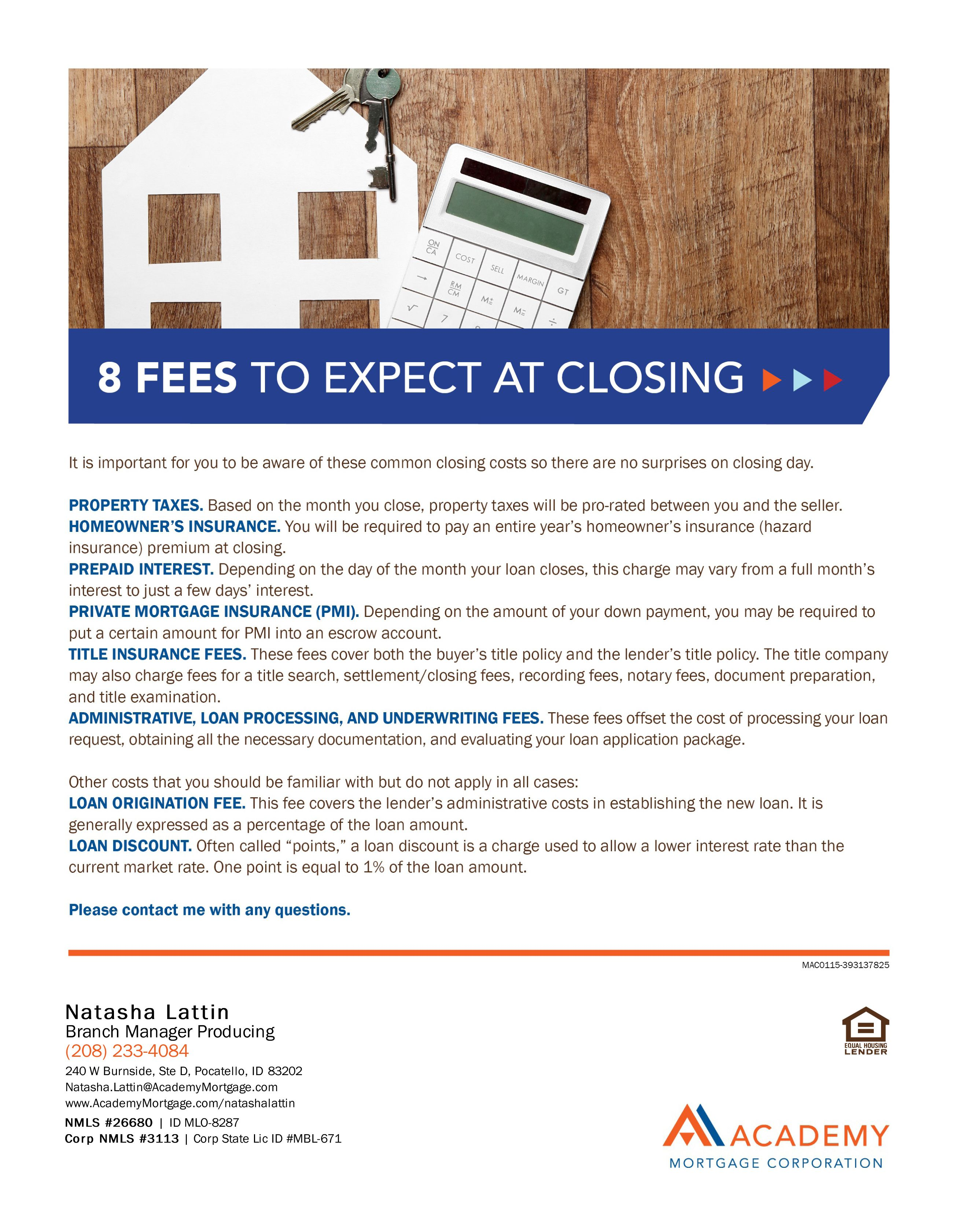 8 fees to expect at closing home loans mortgage
