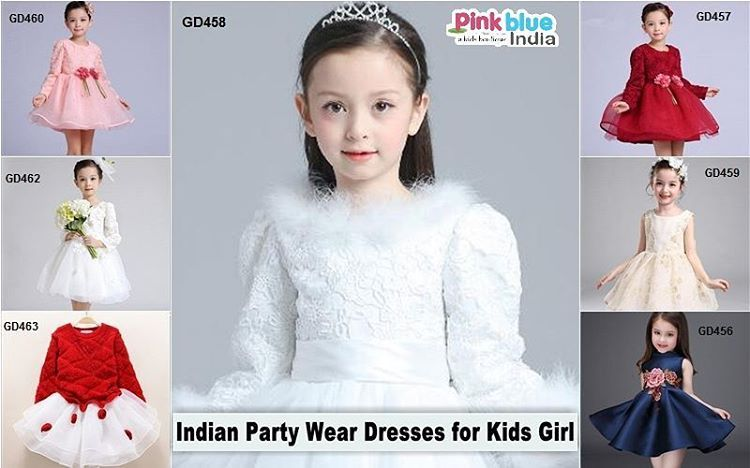 c285833b910d Luxury Designer Indian Party Wear Dresses   Frocks for Kids Girls ...