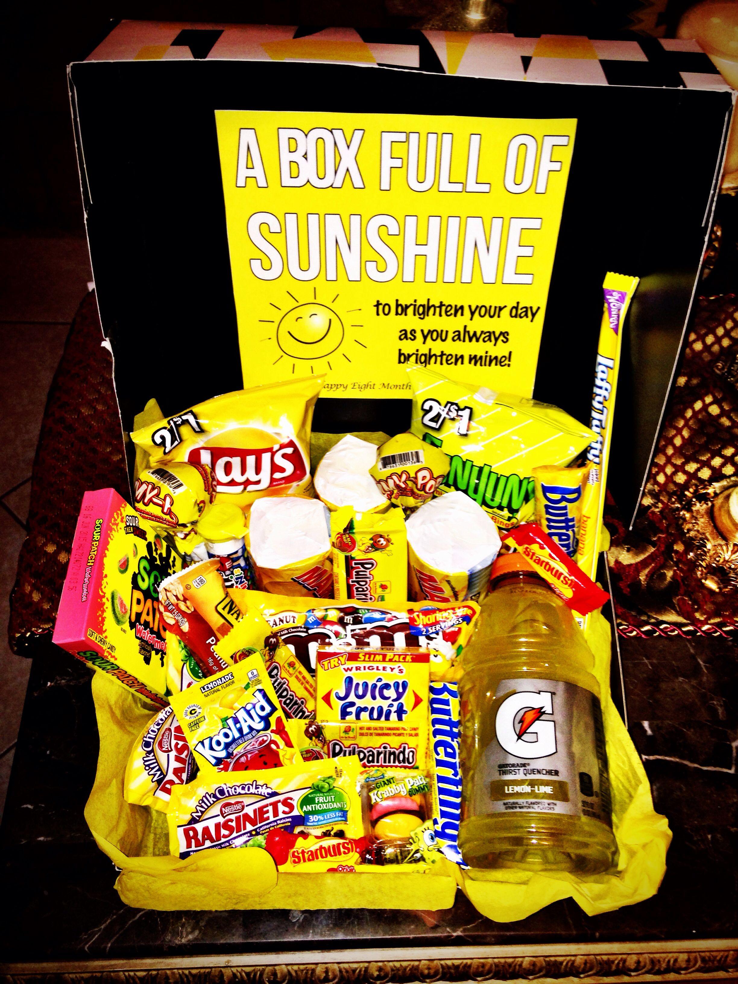 """""""Box Full Of Sunshine"""" Gift For The Boyfriend!"""