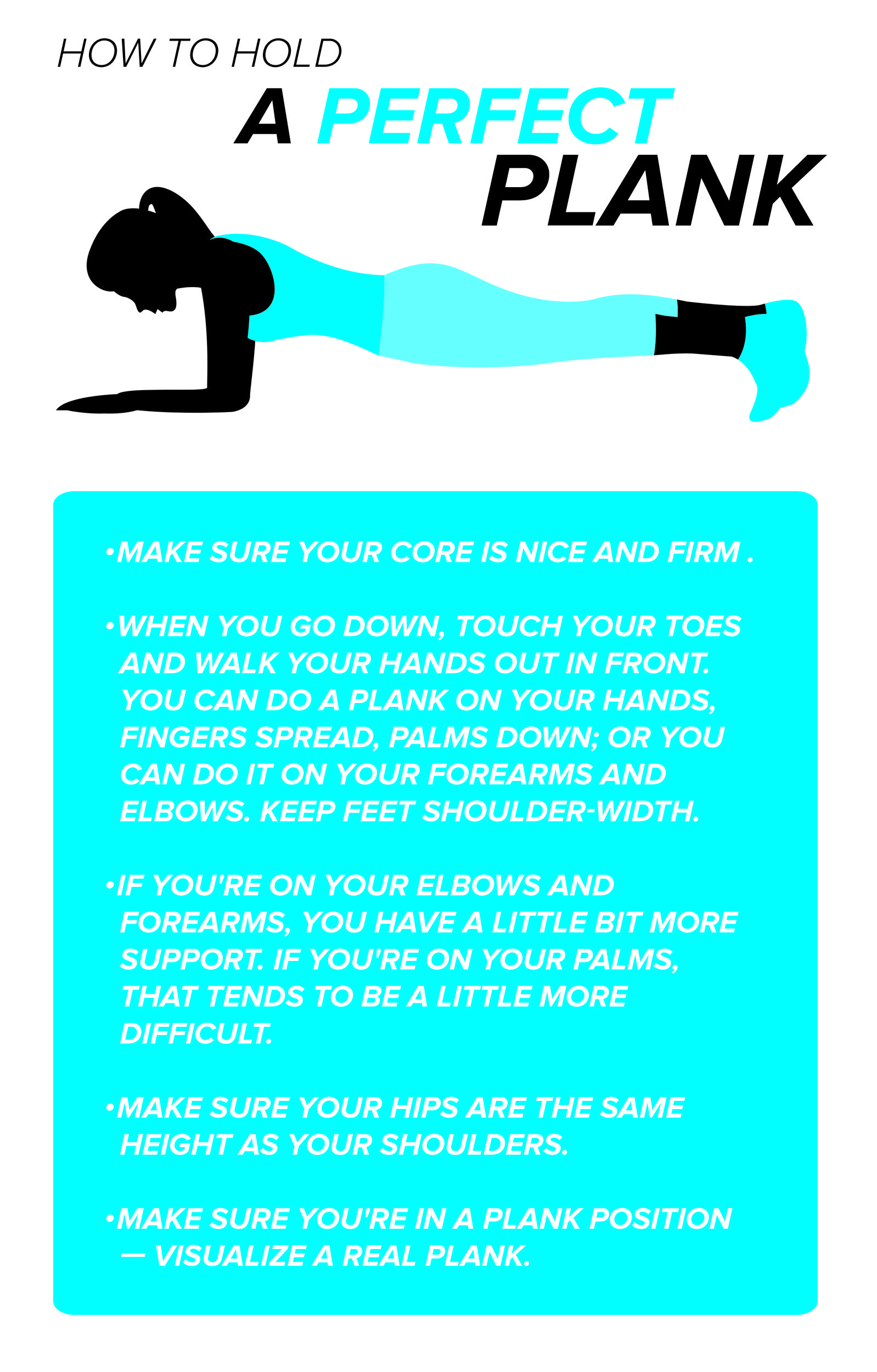 Whether you're a plank beginner or expert, these are the easy tips to keep in mind while holding the position.